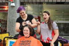 Amynal gets shorn - photo by Wyckedly Wyld