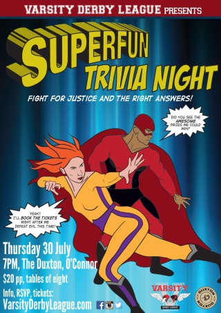 Canberra trivia night supporting Varsity Derby League